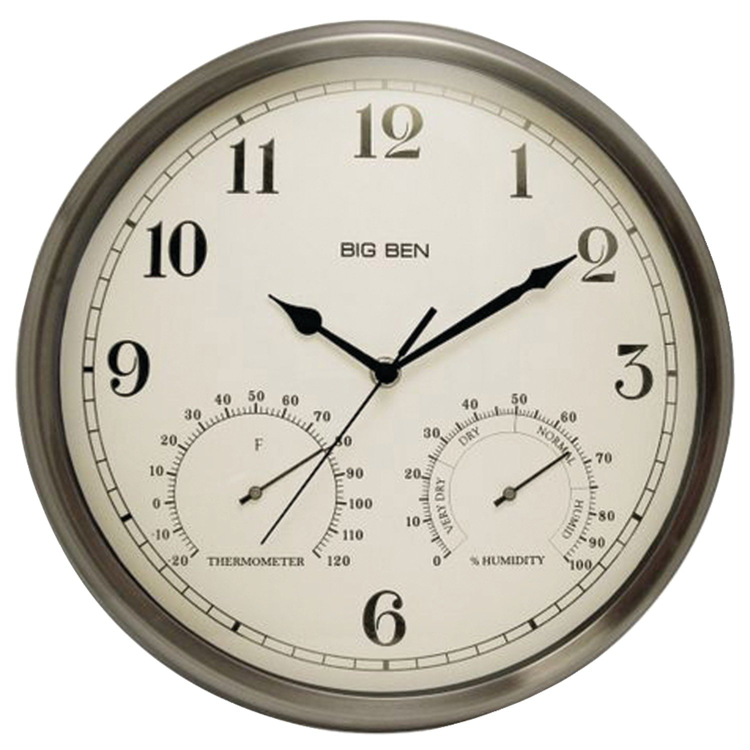 Amazon.com: Westclox 49832 Indoor/outdoor Clock with Temperature ...