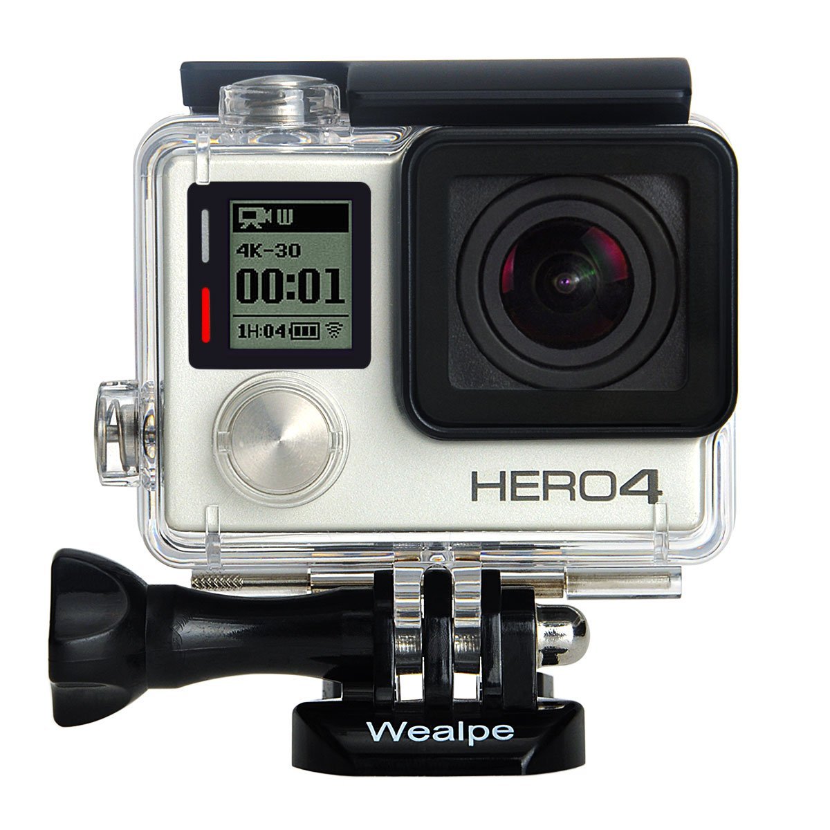 Wealpe Waterproof Housing Case Underwater Protective Dive Housing for GoPro Hero 4, 3+, 3 Cameras
