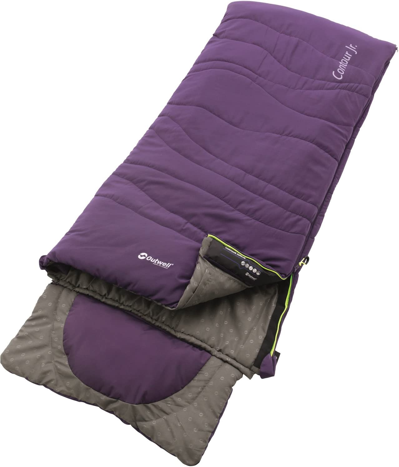 Available in Blue /& Purple Outwell Contour Junior Sleeping Bag