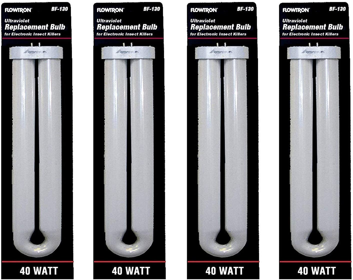 Flowtron BF-130 40 Watt U-Shape Replacement Bulb for FC7800 & FC8800 Models (Pack of 4)
