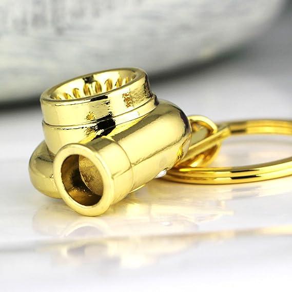 Maycom - Llavero, diseño de turbina de coche, metal, dorado ...