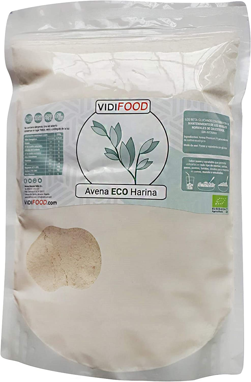Harina de avena ecológica VIDIFOOD (1 Kg)