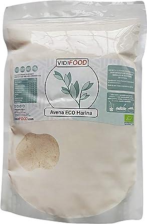 Harina de Avena ECO - 1kg - Avena Orgánica sin gluten, sin avenina ...