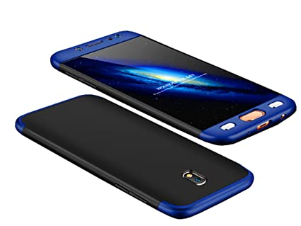 the best attitude 01423 a0f5d BOUNCEBACK 3-in-1 360 Degree Anti Slip Super Slim Back Cover for Samsung  Galaxy J7 Pro(Black and Blue)