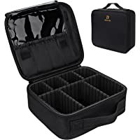 Relavel Travel Makeup Train Case Makeup Cosmetic Case Organizer Portable Artist Storage Bag with Adjustable Dividers for…