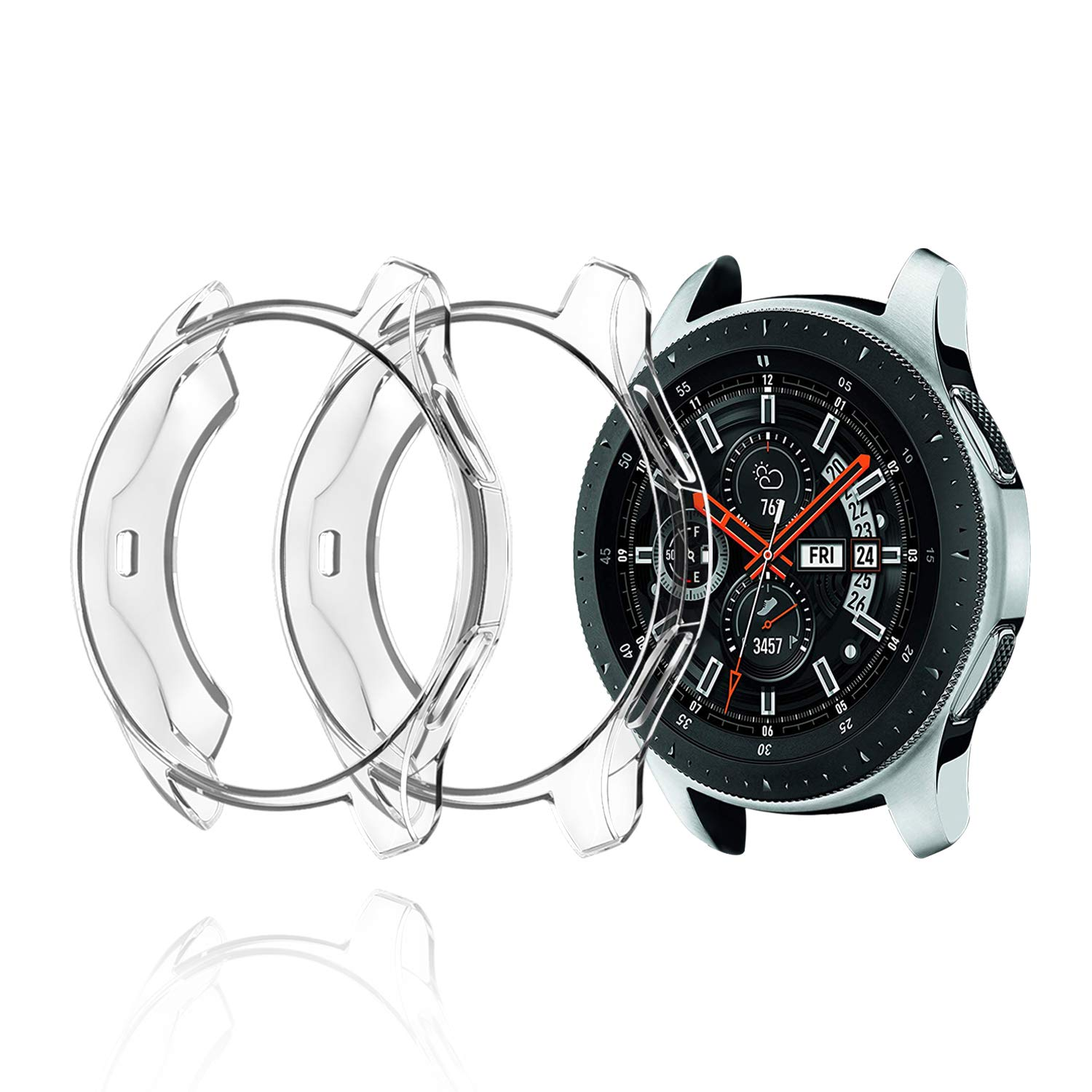 2 fundas transparentes para Samsung Watch 46mm
