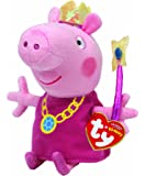 "Peppa Pig Princess Peppa Beanie Baby, plush toys (Approximately 7"" tall)"