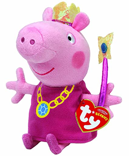 e0907c607f4 Amazon.com  Ty Beanie Babies Princess Peppa Plush  Toys   Games