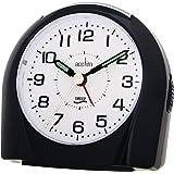 Acctim Europa Silent Sweep Non Ticking Alarm Clock Black