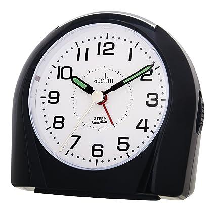 Acctim 14113 Europa - Reloj despertador (segundero silencioso), color negro