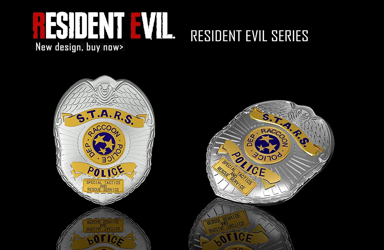 X-COSTUME Resident Evil 2 Remark RPD Pin Badge S.T.A.R.S Badge Shield Prop Cosplay Accessories Fans Collection