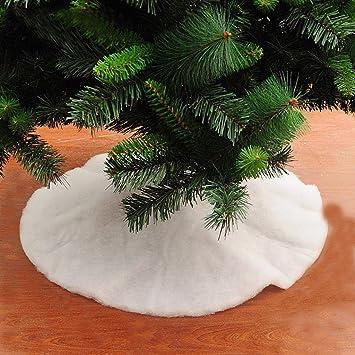 morecome christmas fake snow blanket christmas tree skirt decoration c