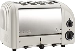 Dualit 4 Slice Classic Toaster, Canvas White