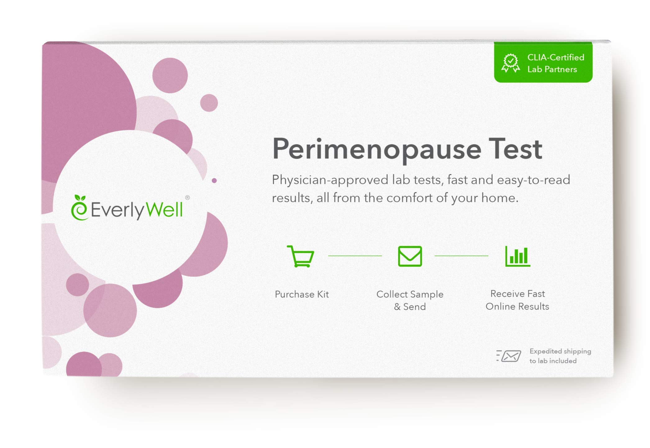 EverlyWell - at-Home Perimenopause Test - Check in with Key Hormones Levels That May Be Changing as You Age (Not Available in RI, MD, NY, NJ)