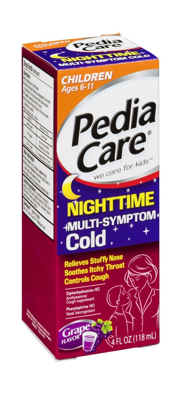 Children's Pedia Care Nighttime Multi-Symptom Cold Grape Flavor 4 FL OZ