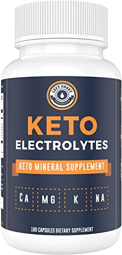 Keto Electrolyte Supplement 180 Capsules . Electrolyte Pills for Ketogenic Diet. Magnesium, Potassium, Sodium, Calcium Electrolytes Keto Tablets for Rehydration – Left Coast Performance