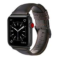 Pulseira De Couro para Apple Watch 42mm Com Adaptadores Pretos