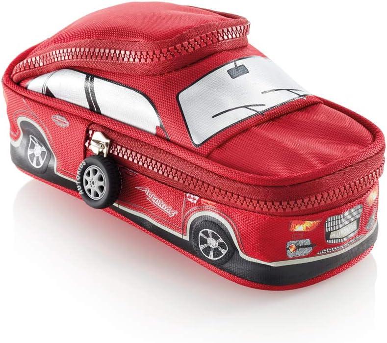 Miquelrius Estuche escolar doble compartimento poliéster cierre cremallera rojo Cars: Amazon.es: Oficina y papelería
