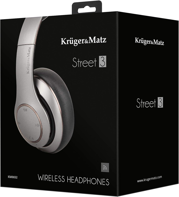Krüger Matz Kopfhörer Street 3 Bluetooth Grafit Elektronik