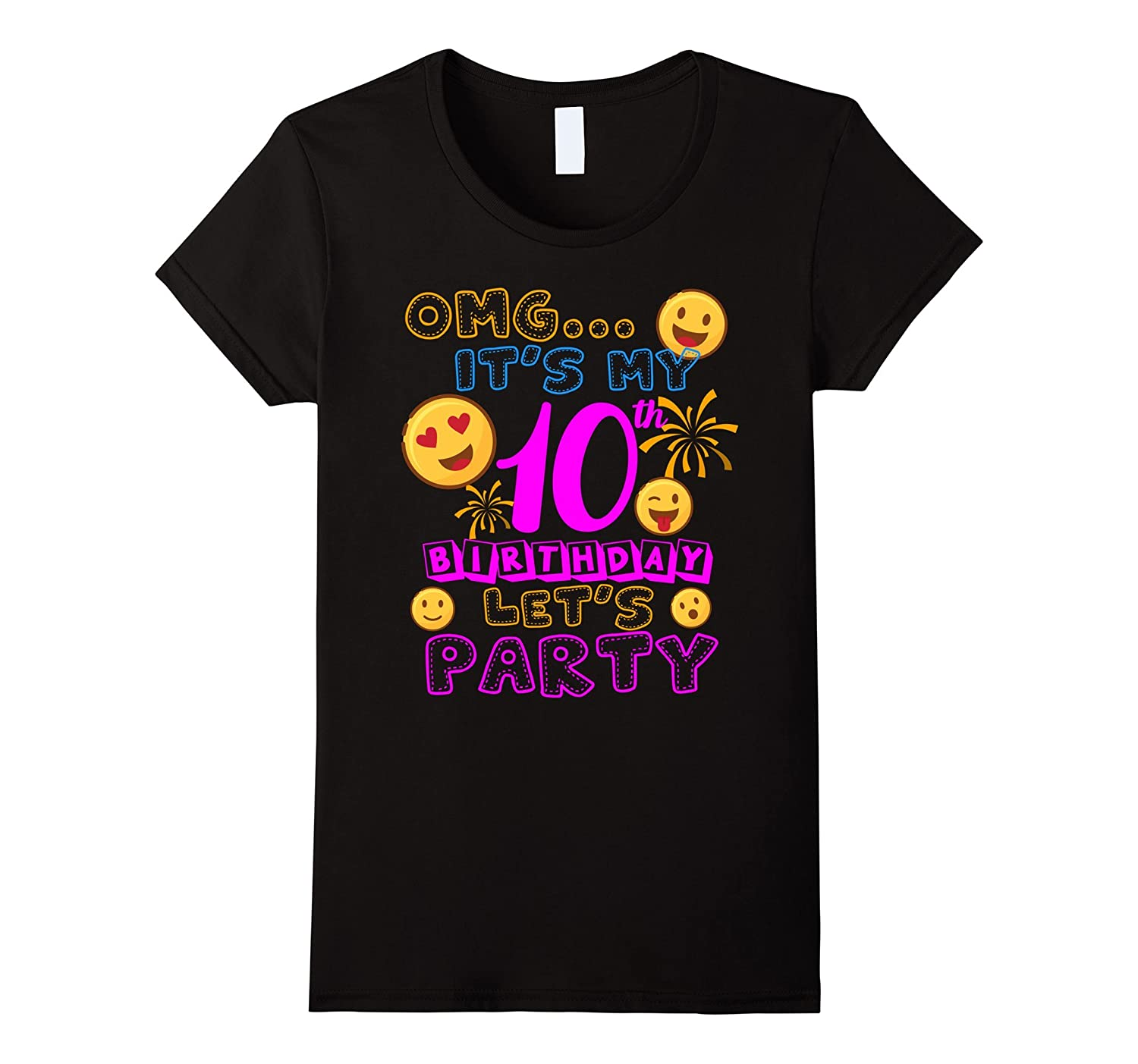 10 Year Old Awesome Kids Shirts Kids 10th Birthday Emoji