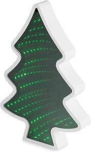 LED Magic Infinity Tunnel Mirror: Christmas Tree Sensory Desk Lights for Kids, Office, Home Decor
