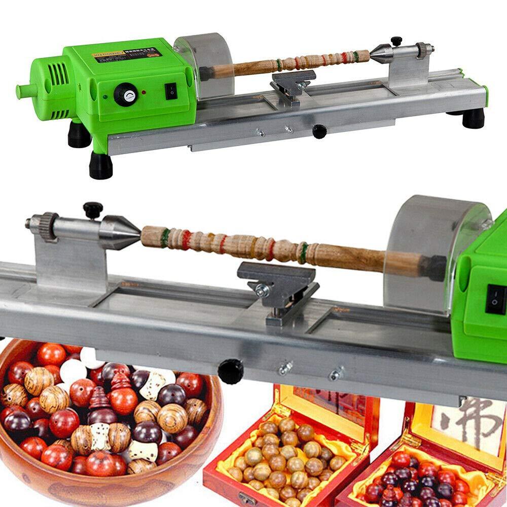Mini Lathe Beads Polisher Machine, 480W Polishing Machine DIY Woodworking Lathe Drilling CNC Machining Machine, Precision Wood Hole DIY Craft Rotary Bench Drill Tool for Wood Plastic Bead