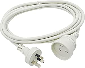GOLINX 3m Power Extension Cord. 10A/240V/2400W Rated. RCM Approved. White.