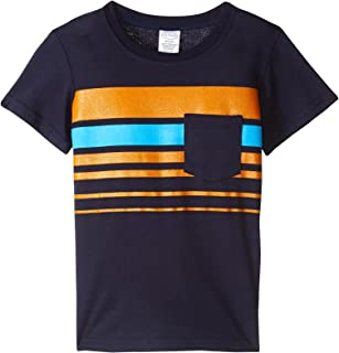 product image for City Threads Boys' Printed Stripe Soft Jersey Pocket Tee, Infant