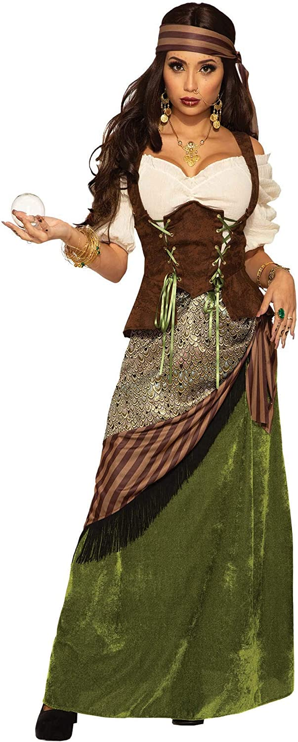 Celtic Fortune Teller Costume for Adults: Amazon.es: Ropa y accesorios
