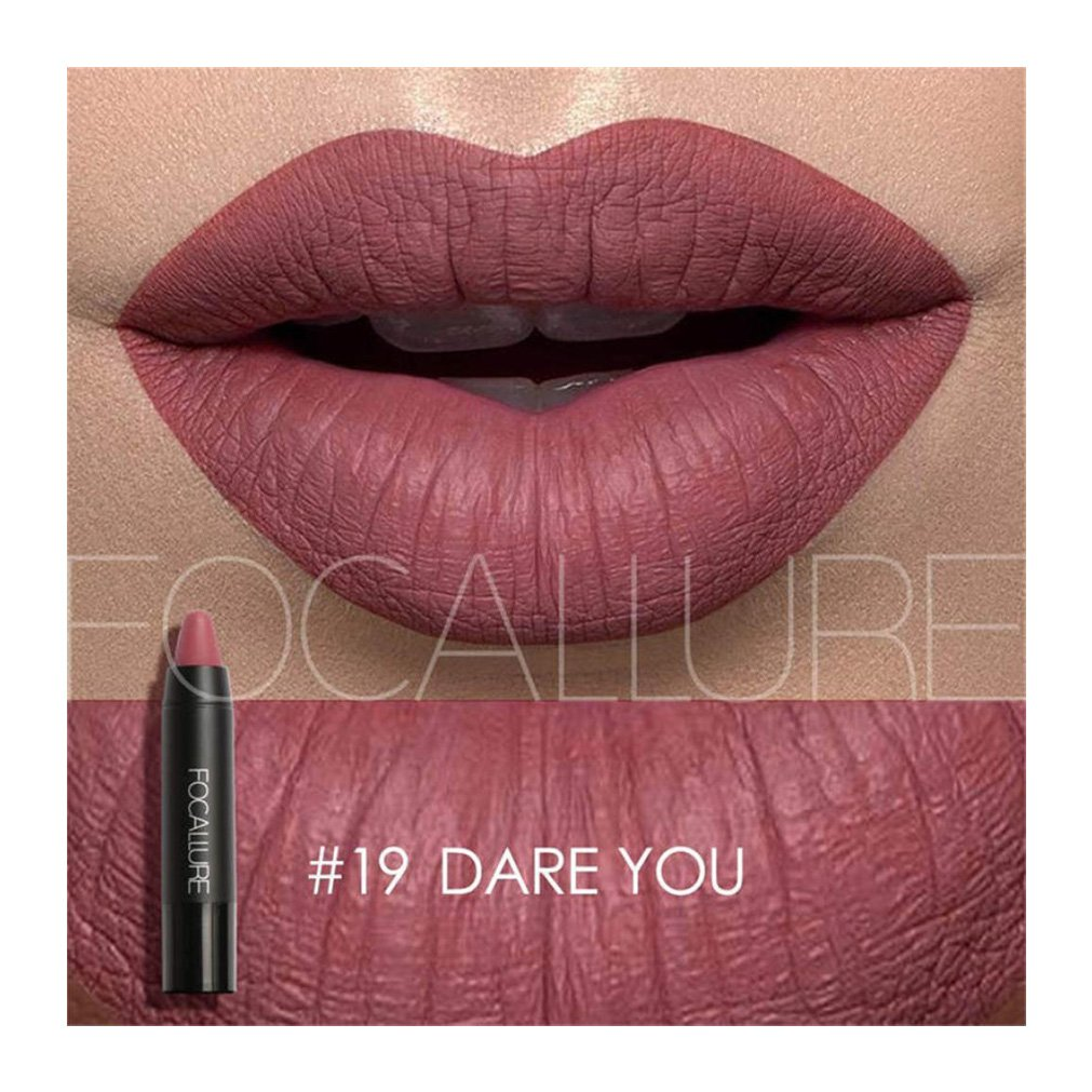 Hot Sales! DEESEE(TM) FOCALLURE Matte Lipstick Pen Waterproof Lasting 12-color Optional Lip Makeup (S)