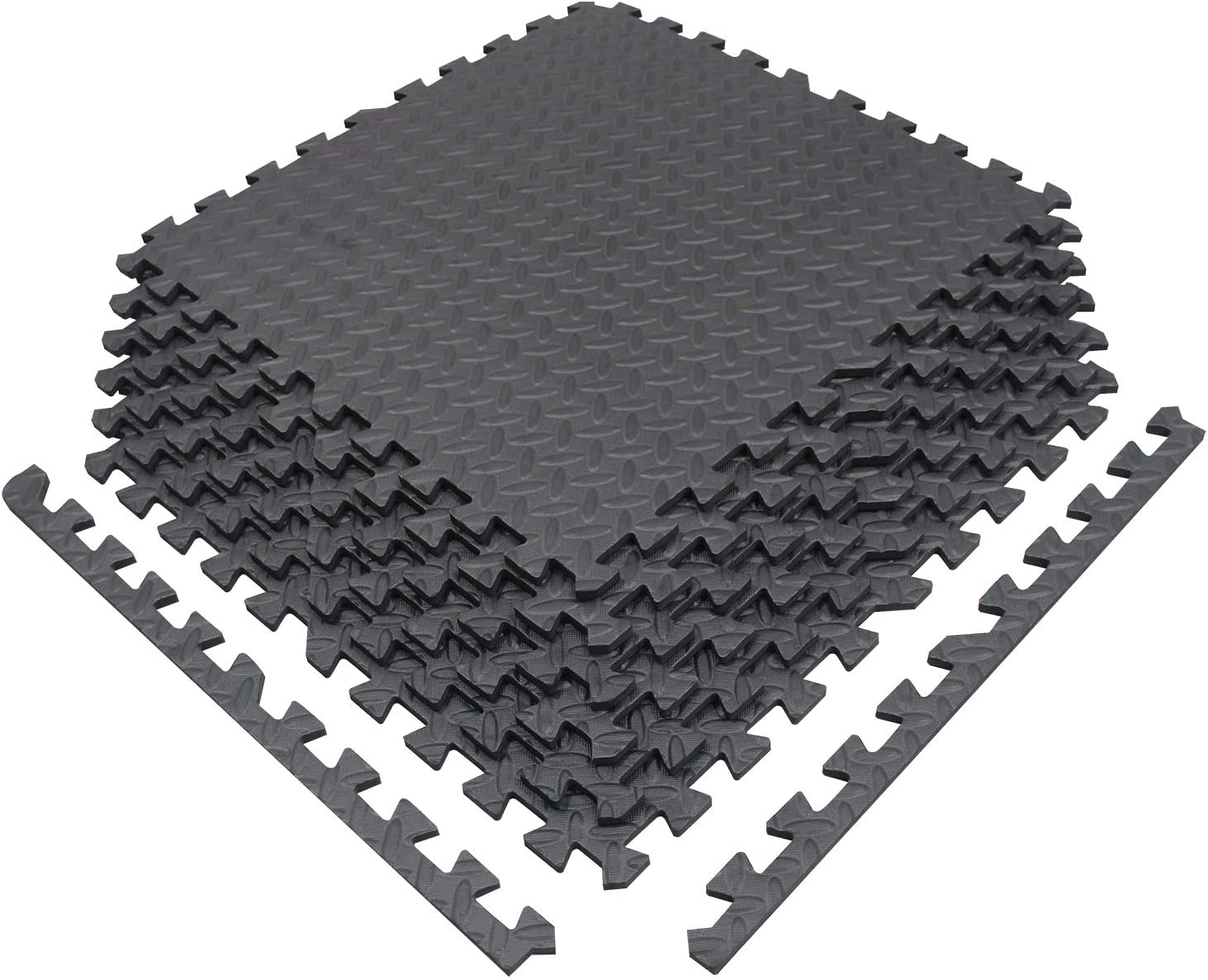 meiqicool Baby Playmats Floor Gyms Jigsaws Puzzles Jigsaw Accessories Puzzle Play Mats Floor Exercise Mats Frame,Fitness Yoga Mats Play Mat Crawling Mat Protective Flooring White and Grey 3512HUI