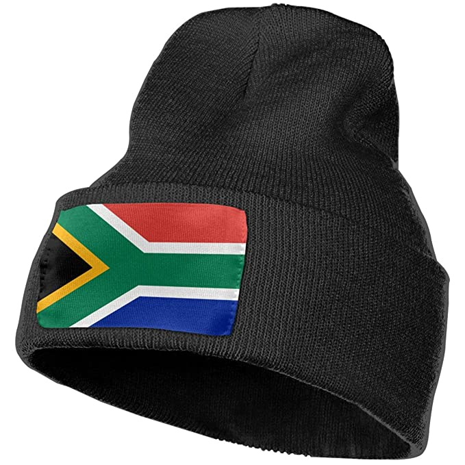 BBLIJEAN South Africa Flag Adult Knit Cap Winter Unisex Skull Hat ... b7f7c28a0bc