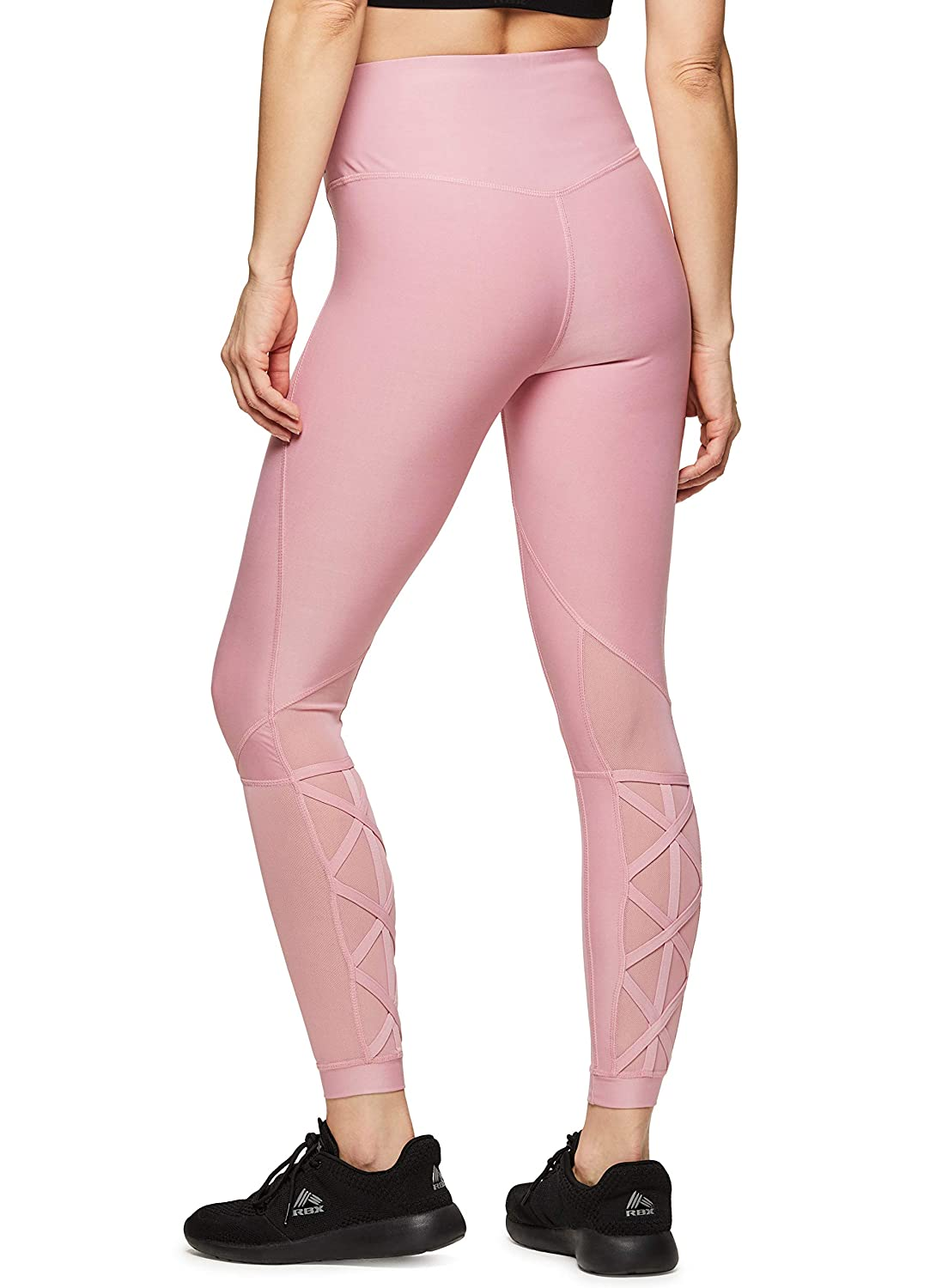 Cage19 Pink RBX Active Women's Workout Yoga 7 8 Ankle Legging with Side Detail