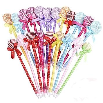 Gudotra 36pcs Bolígrafo de Lollipops Escuela Papelería Cumpleaños Fiesta Detalles Regalo Ninos Navidad (Estilo3)