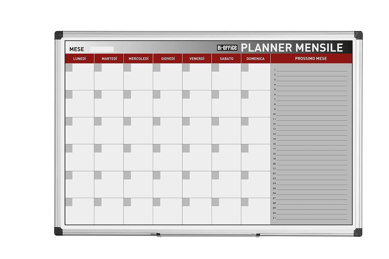 Bi-Office - Planning Magnetico Mensile, 90 x 60 cm Bisilque GA03267170