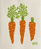 Swedish Treasures Wet-it! Cleaning Cloth, Carrots, Super Absorbent, Reusable, Biodegradable, All-purpose