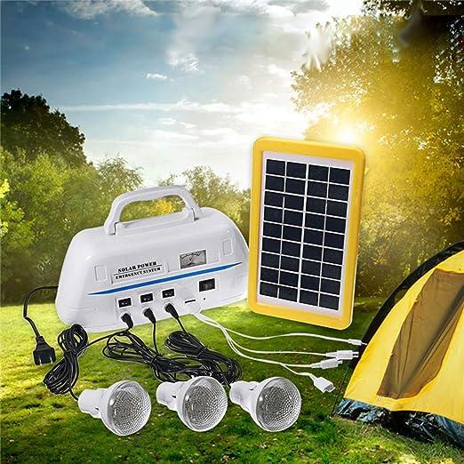 Sistema de generador solar portátil con batería recargable y ...