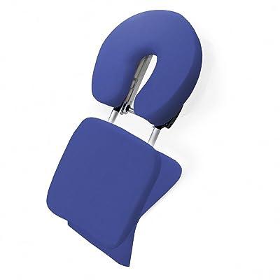Kendan Linton Bleu - Support de chaise de massage en aluminium pliable ultra-légerpour table ou bureau. Support pour massage indien du crâne (sac de transport inclus)