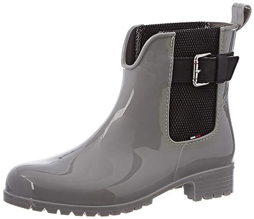 low priced c8b8b a3f2a Tommy Hilfiger Damen Cool Tommy Ribbon Rainboot Gummistiefel