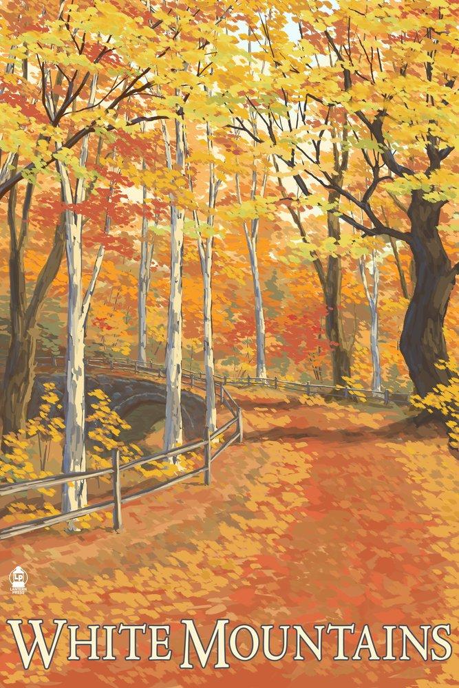 『5年保証』 White x Mountains, New Hampshire Art - Fall Press Colors (9x12 Art Print, Wall Decor Travel Poster) by Lantern Press B07B2626HW 24 x 36 Signed Art Print 24 x 36 Signed Art Print, 松本民芸家具 ギャラリー織絵:e36058cc --- catconnects-ie.access.secure-ssl-servers.org