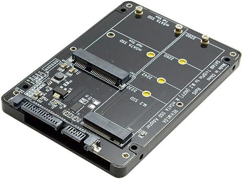 mSATA y M.2 NGFF B-key 2in1 Combo SSD a SATA 3.0 Adaptador ...
