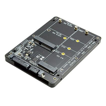 Cablecc 2 en 1 Combo M.2 NGFF B-Key & mSATA SSD a SATA 3.0 Adaptador convertidor Carcasa