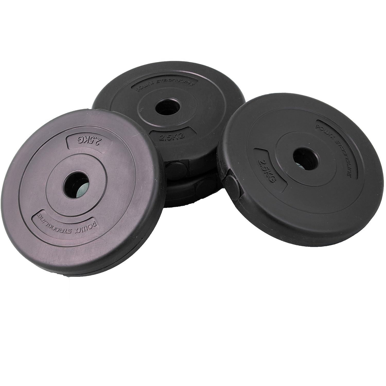 POWRX - Pesa plástico | lastres para Corta/Pesas | 1,25/2,5/5 kg, 4 x 2,5 kg: Amazon.es: Deportes y aire libre