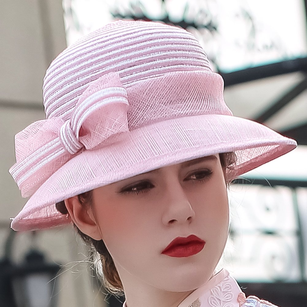 Koolas hats Champagne Brown 3 Layers Sinamay Kentucky Derby Church Sun  Summer Hats MM-0083 3e02e07f42f8