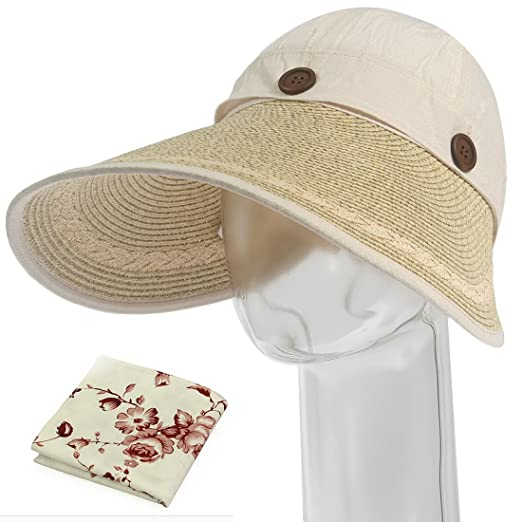 Amazon.com  kilofly Women s Large Brim Removable Top UV Sun Visor ... baa0cebe49f