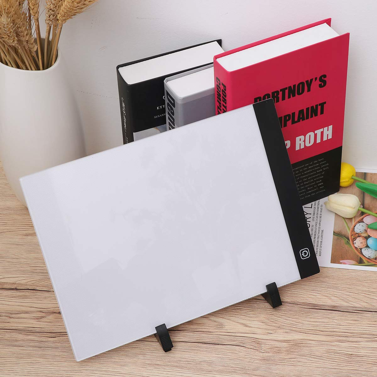 STOBOK Light Drawing Board 1 Set A4 LED Light Box Drawing Sketch Tablet Tracking Artist Backing Plate Diamond Painting Tools for Desktop Table Easel Craft Workstation by STOBOK (Image #9)