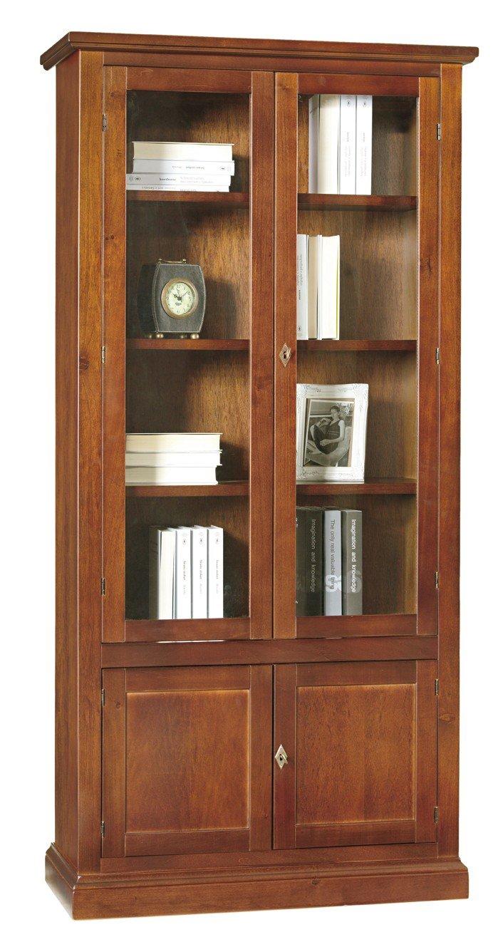 Lo Scrigno Arredamenti, Libreria/Vetrina Arte povera 2 porte vetro 2 ...