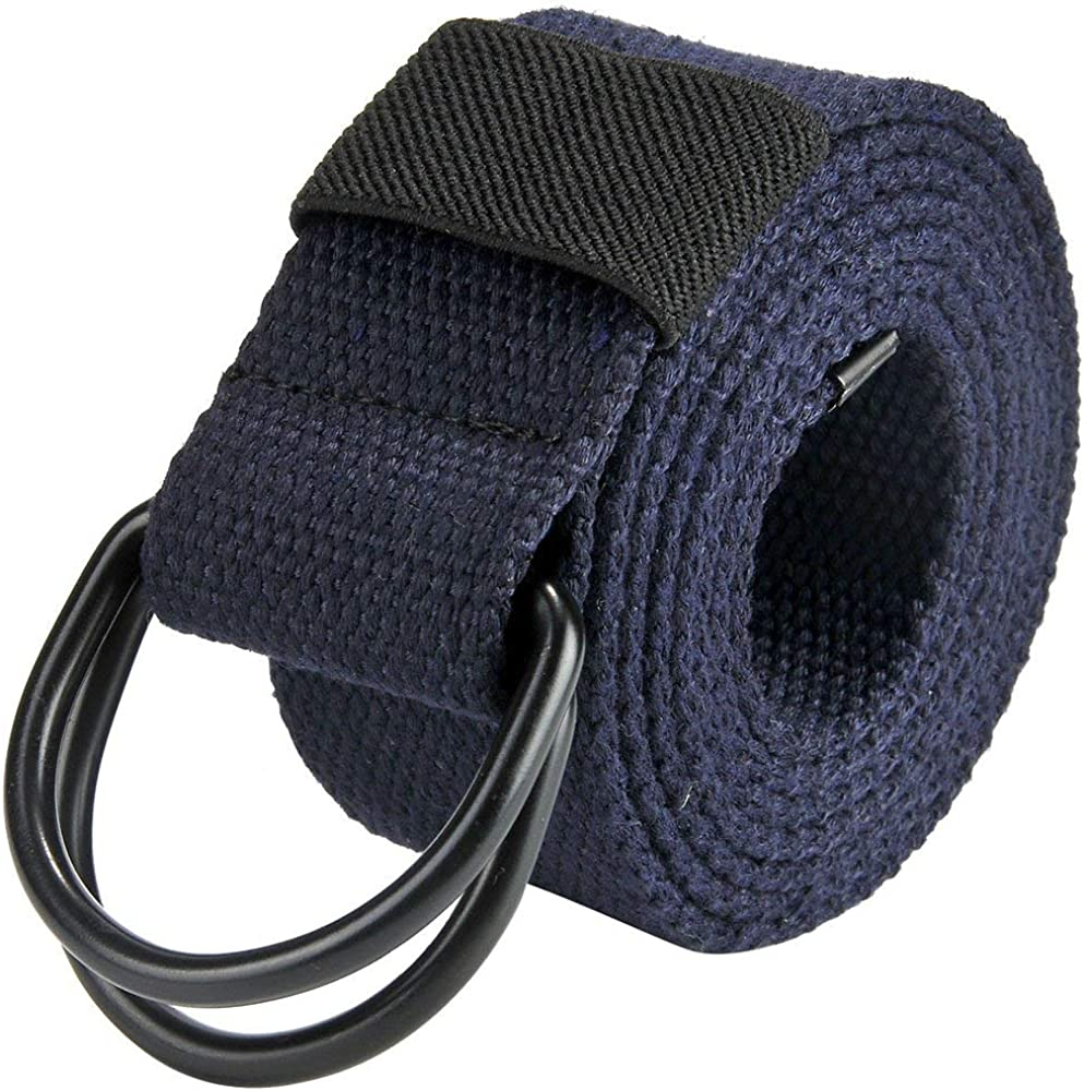Cinturones Para Hombre Cinturón Cinturón Con Doble Anillas Tamaños Cómodos Hebilla Lienzo Jeans Lona Cinturones Cinturones 130Cm + Caja De Regalo Original Ropa (Color : Dunkelblau, Size : 130cm) : Amazon.es: Ropa y accesorios