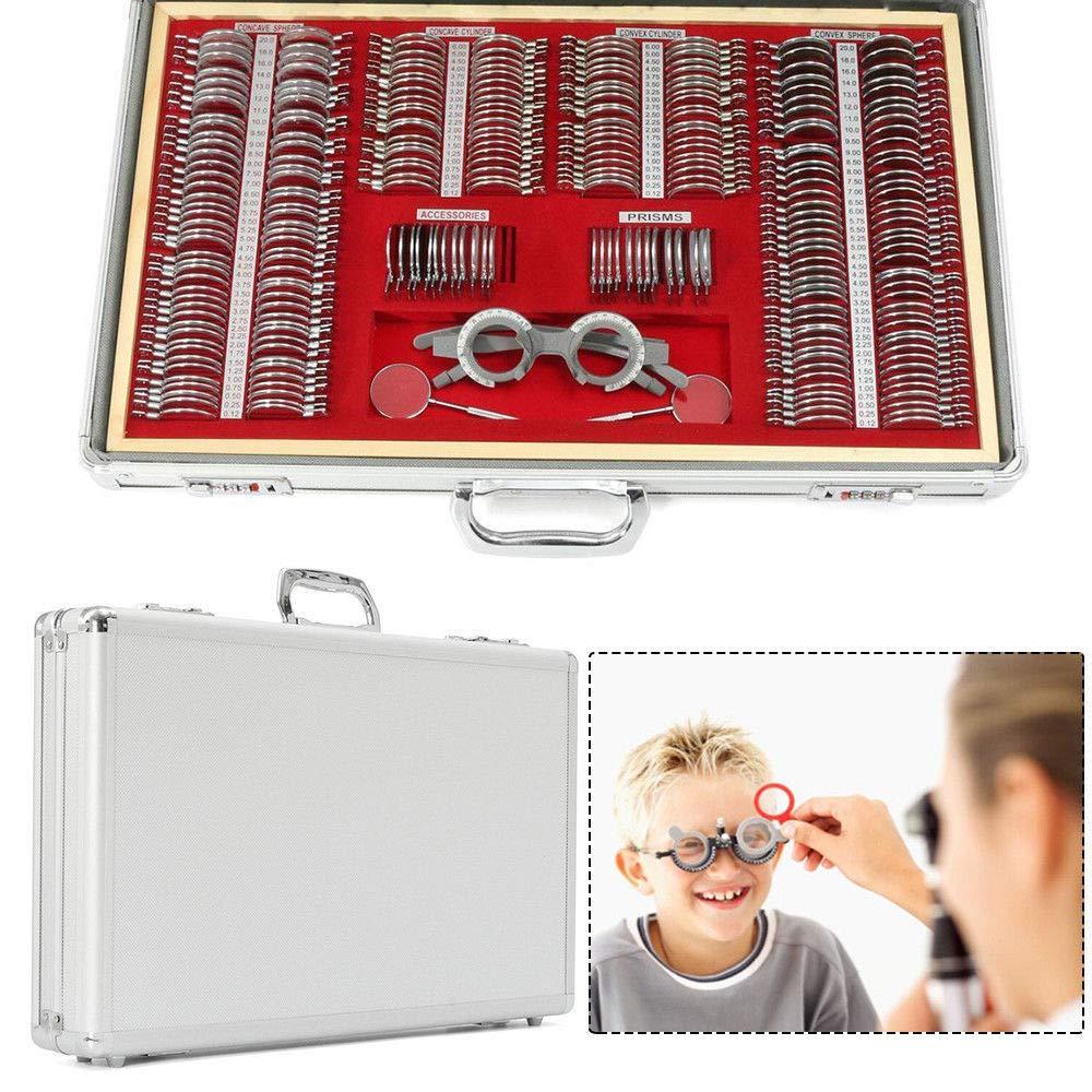 Optical Trial Lens Set Kits 266pcs Metal Rims in Aluminum Case+ Free Trial Frame Optical Lens Optometry Rim Case Kit Set w/Free Optometry Test Trial Frame by TFCFL (Image #6)