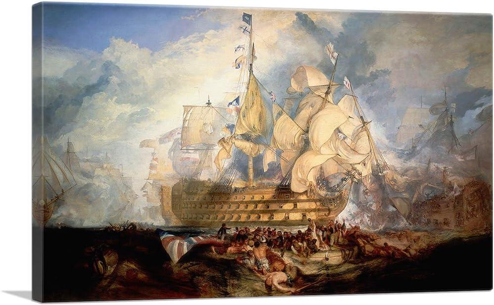ARTCANVAS Indefinitely Battle of Trafalgar Regular dealer 1805 Canvas W. Art J. M. Print by